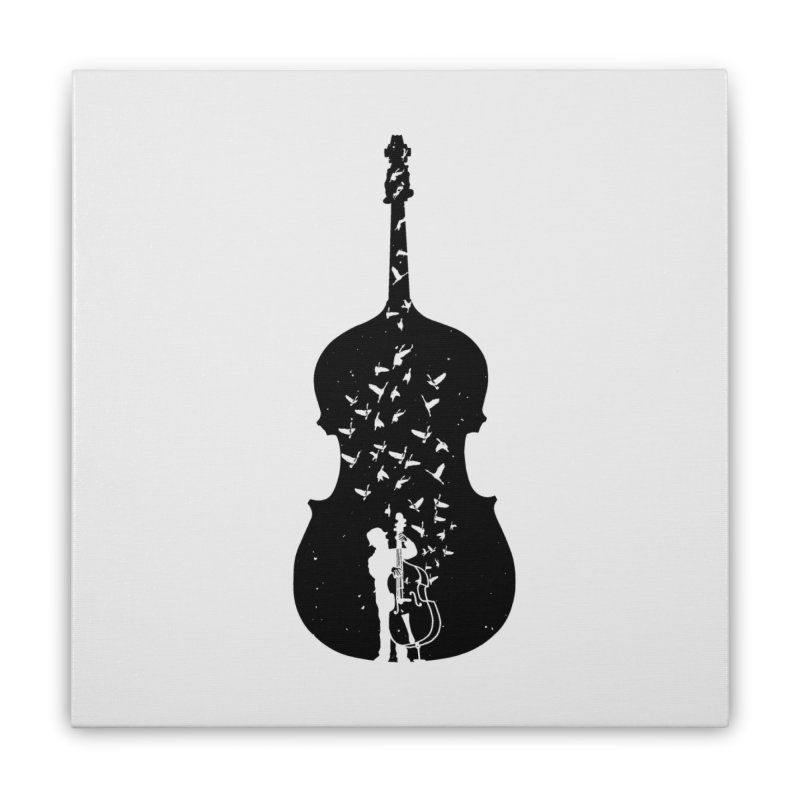 Double bass Home Stretched Canvas by barmalisiRTB