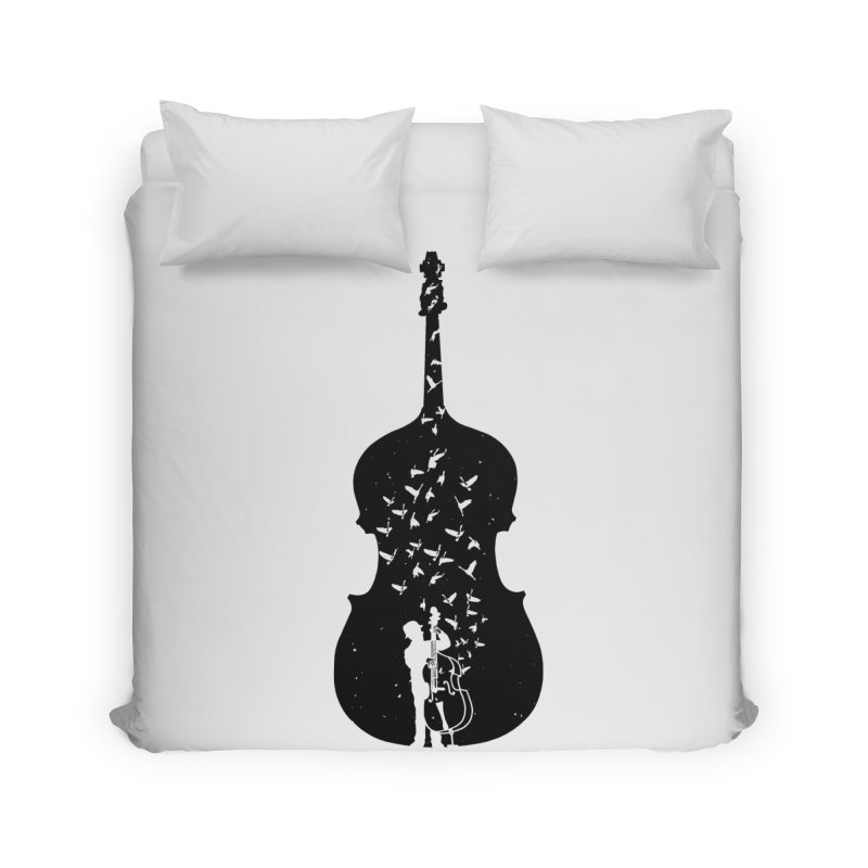 Double bass Home Duvet by barmalisiRTB