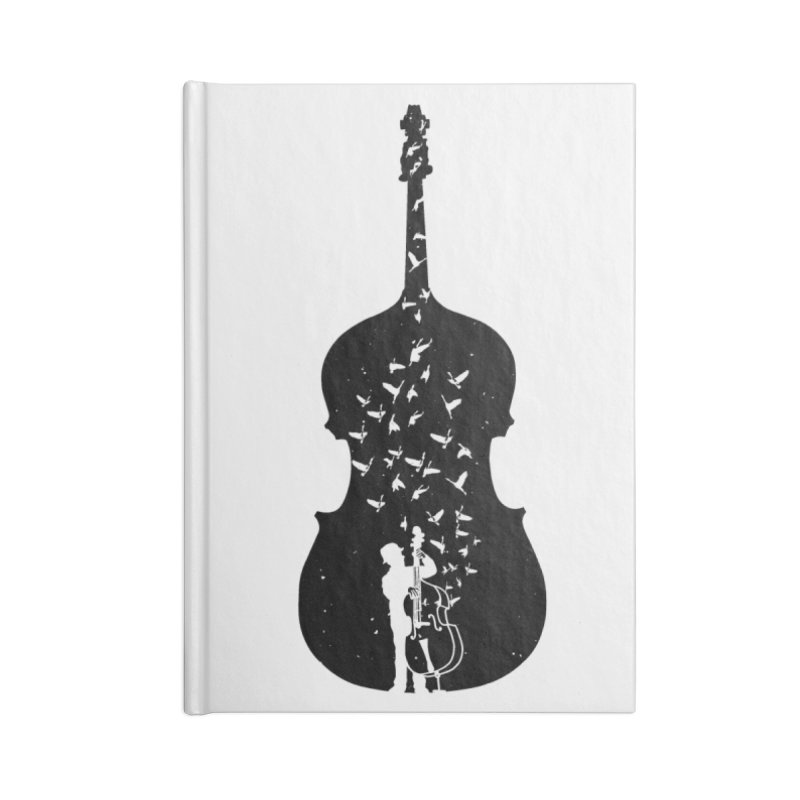 Double bass Accessories Lined Journal Notebook by barmalisiRTB