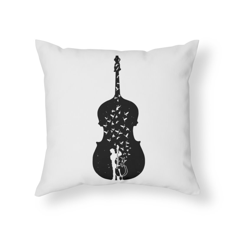Double bass Home Throw Pillow by barmalisiRTB