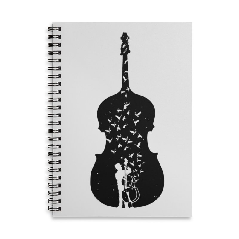 Double bass Accessories Lined Spiral Notebook by barmalisiRTB