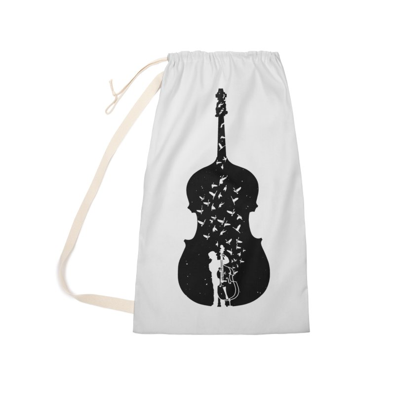 Double bass Accessories Laundry Bag Bag by barmalisiRTB