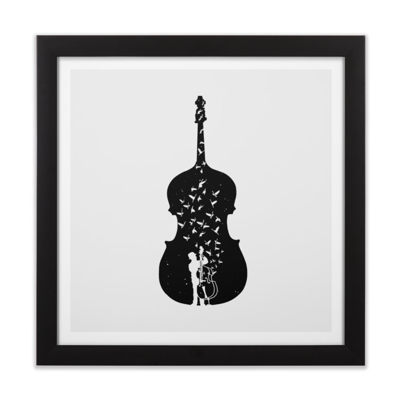 Double bass Home Framed Fine Art Print by barmalisiRTB