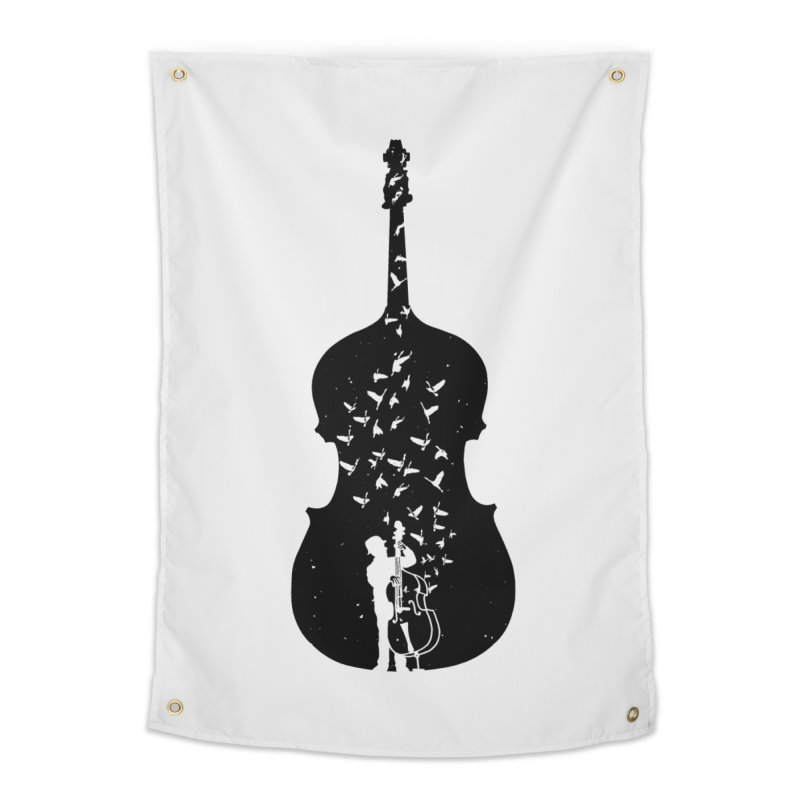 Double bass Home Tapestry by barmalisiRTB