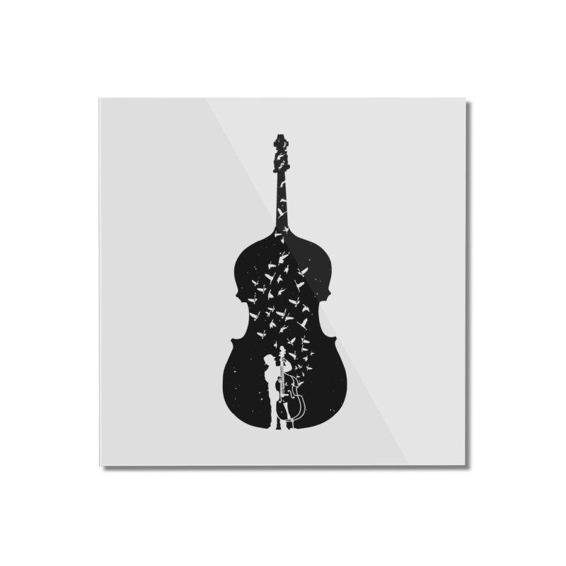 Double bass Home Mounted Acrylic Print by barmalisiRTB