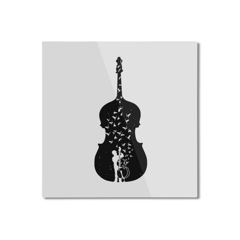 Double bass Home Mounted Aluminum Print by barmalisiRTB