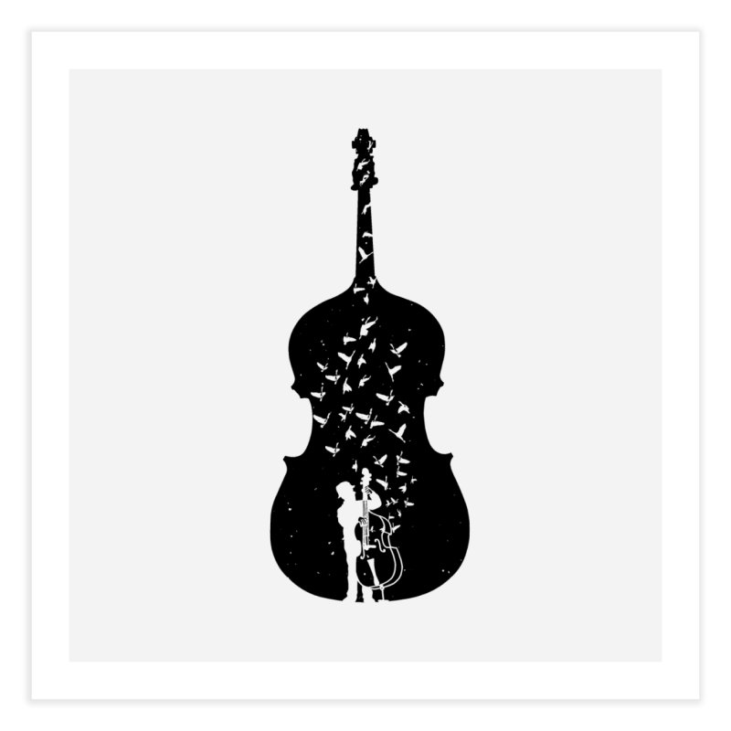 Double bass Home Fine Art Print by barmalisiRTB