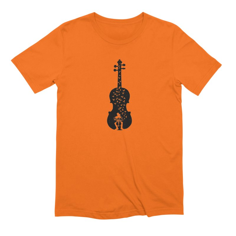 Cello - Playing Cello Men's Extra Soft T-Shirt by barmalisiRTB