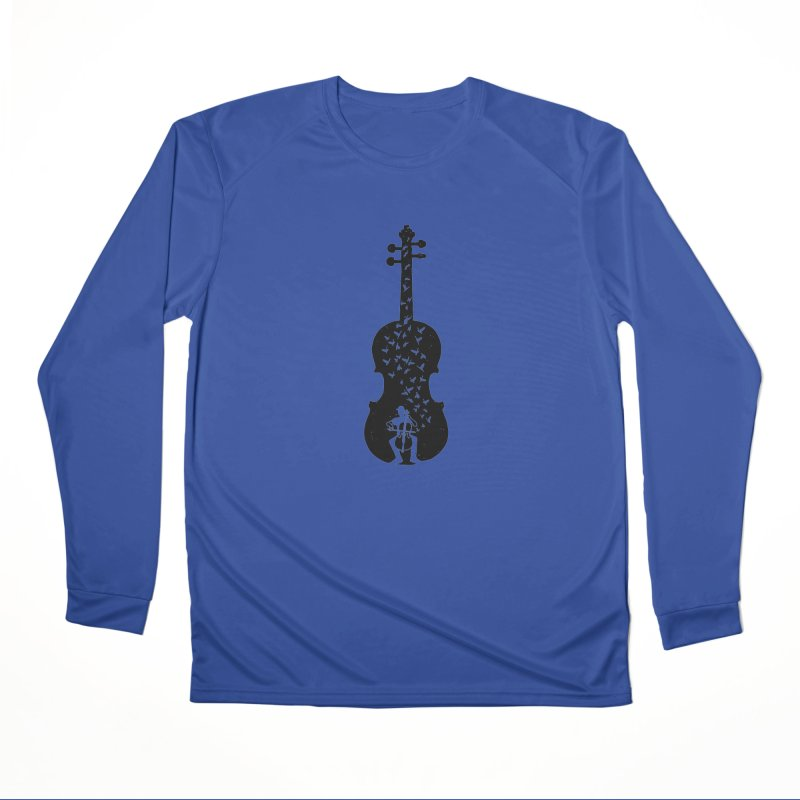 Cello - Playing Cello Men's Performance Longsleeve T-Shirt by barmalisiRTB