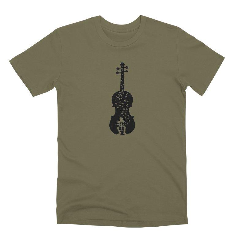 Cello - Playing Cello Men's Premium T-Shirt by barmalisiRTB