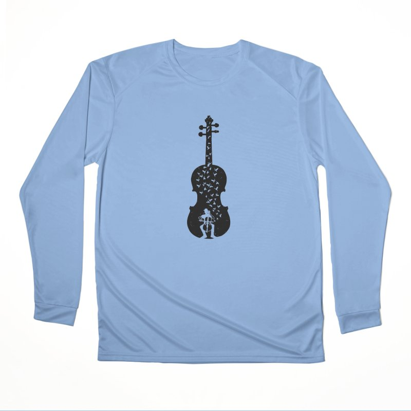 Cello - Playing Cello Women's Longsleeve T-Shirt by barmalisiRTB