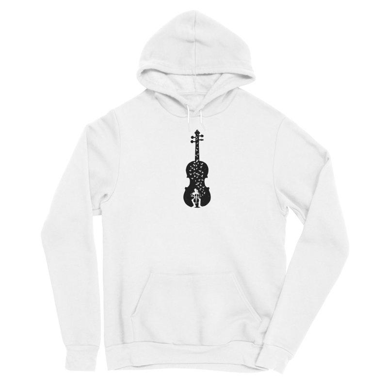 Cello - Playing Cello Women's Sponge Fleece Pullover Hoody by barmalisiRTB