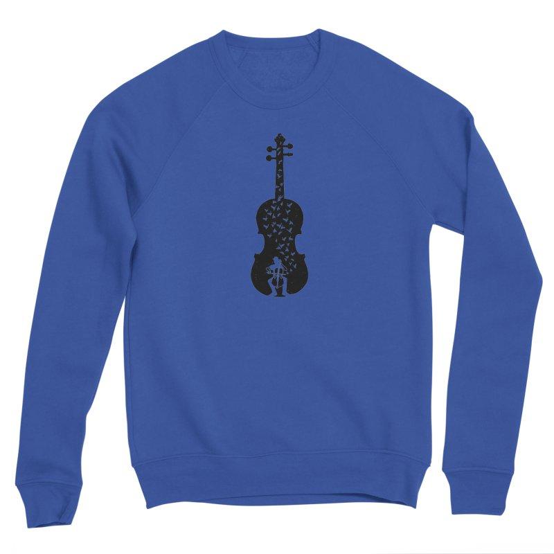 Cello - Playing Cello Men's Sweatshirt by barmalisiRTB
