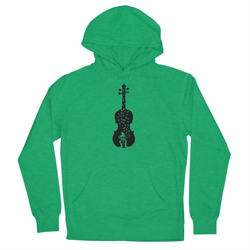 Cello - Playing Cello Men's French Terry Pullover Hoody by barmalisiRTB