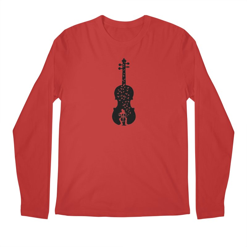 Cello - Playing Cello Men's Regular Longsleeve T-Shirt by barmalisiRTB