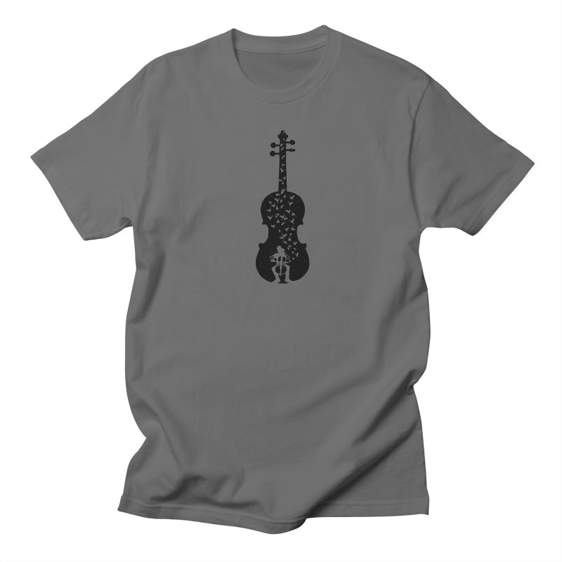 Cello - Playing Cello Men's T-Shirt by barmalisiRTB