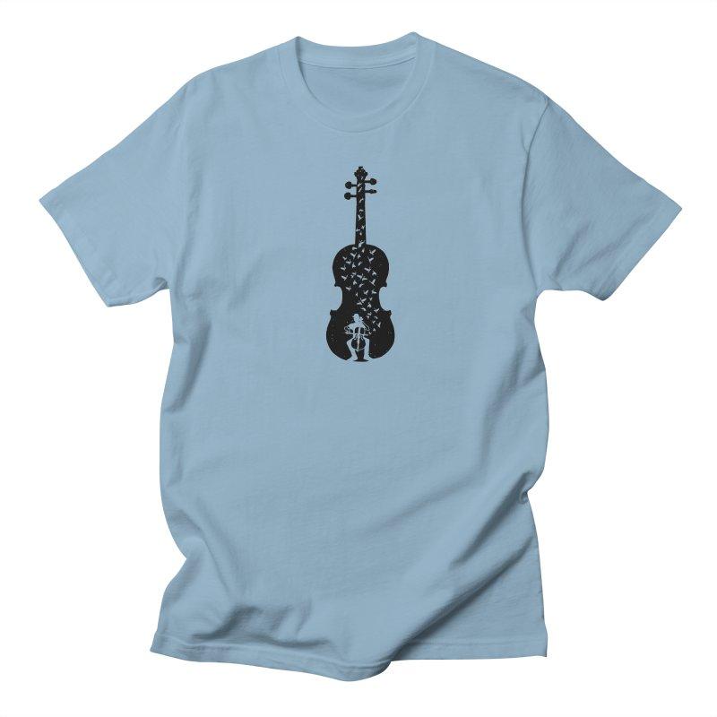 Cello - Playing Cello Men's Regular T-Shirt by barmalisiRTB