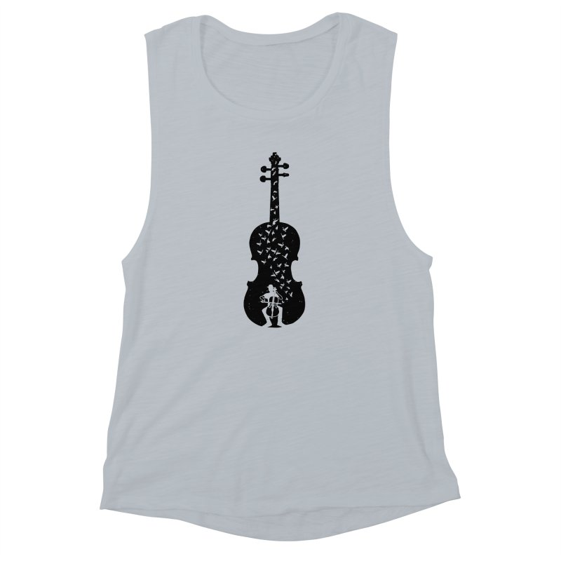 Cello - Playing Cello Women's Muscle Tank by barmalisiRTB