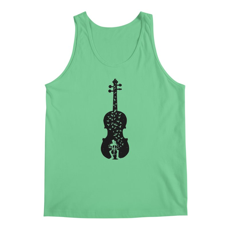 Cello - Playing Cello Men's Regular Tank by barmalisiRTB