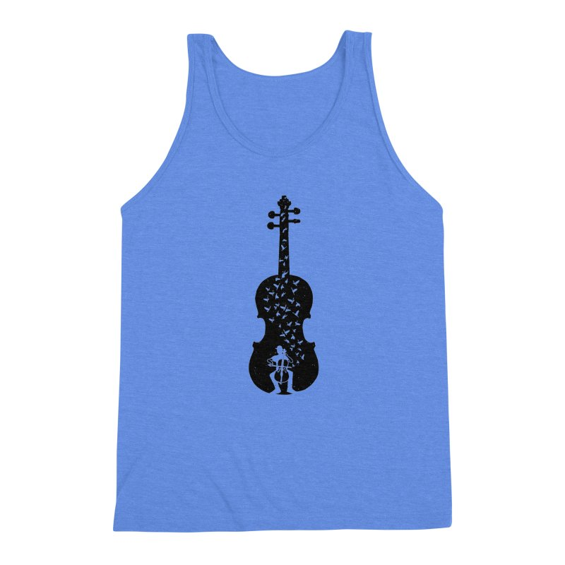 Cello - Playing Cello Men's Triblend Tank by barmalisiRTB