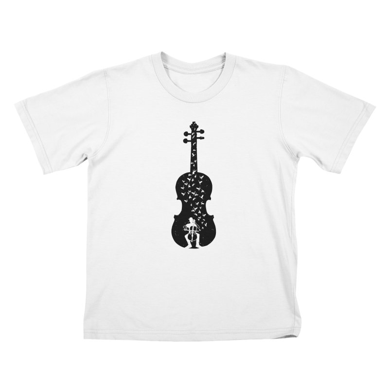 Cello - Playing Cello Kids T-Shirt by barmalisiRTB
