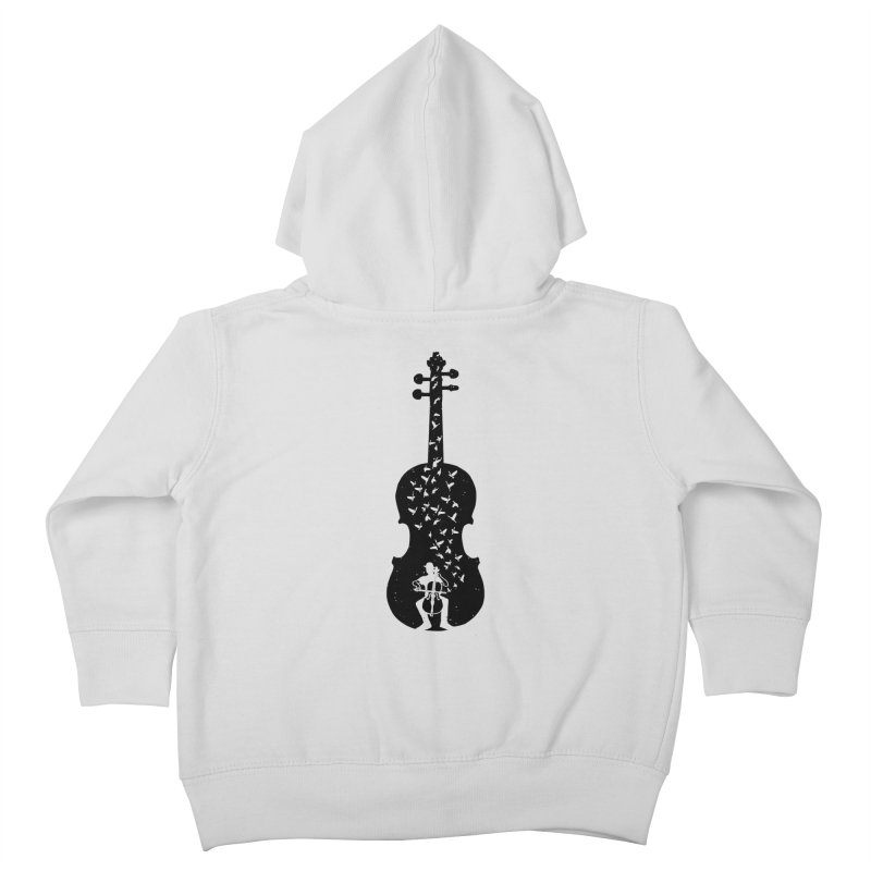 Cello - Playing Cello Kids Toddler Zip-Up Hoody by barmalisiRTB