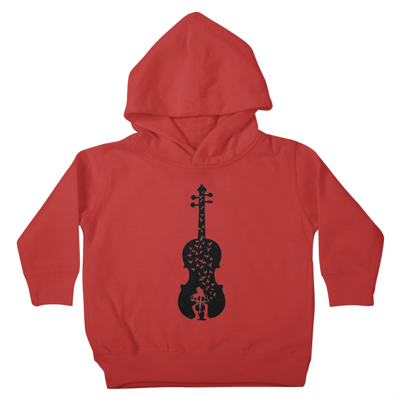 Cello - Playing Cello Kids Toddler Pullover Hoody by barmalisiRTB