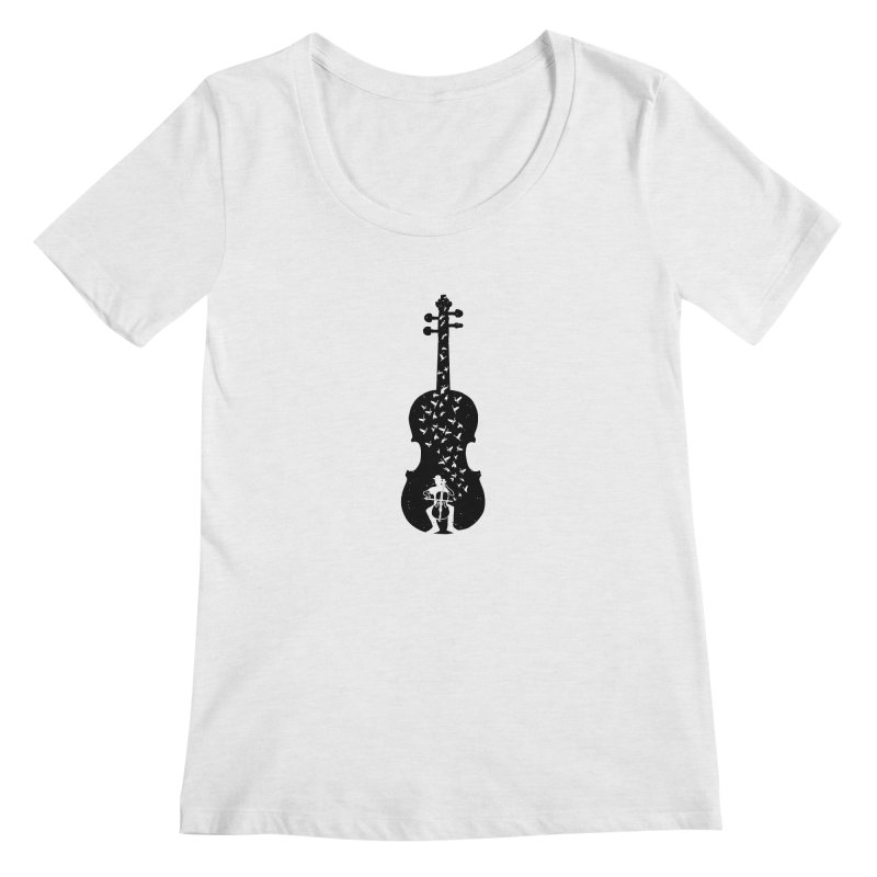 Cello - Playing Cello Women's Regular Scoop Neck by barmalisiRTB