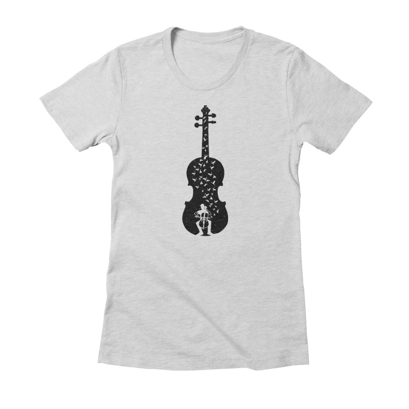 Cello - Playing Cello Women's Fitted T-Shirt by barmalisiRTB