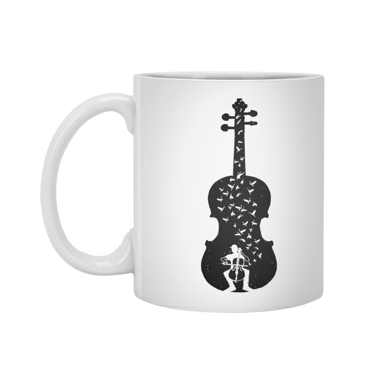 Cello - Playing Cello Accessories Standard Mug by barmalisiRTB