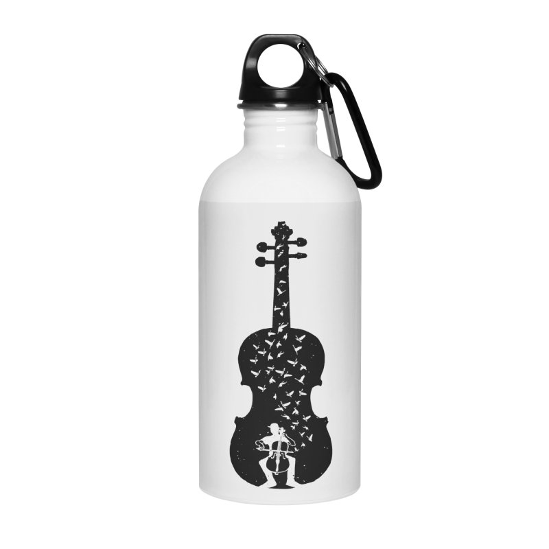 Cello - Playing Cello Accessories Water Bottle by barmalisiRTB