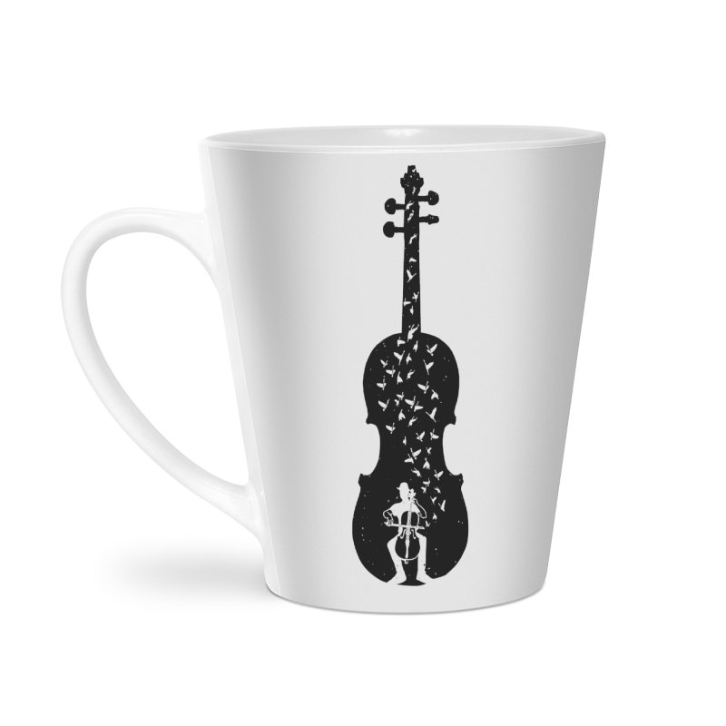 Cello - Playing Cello Accessories Latte Mug by barmalisiRTB