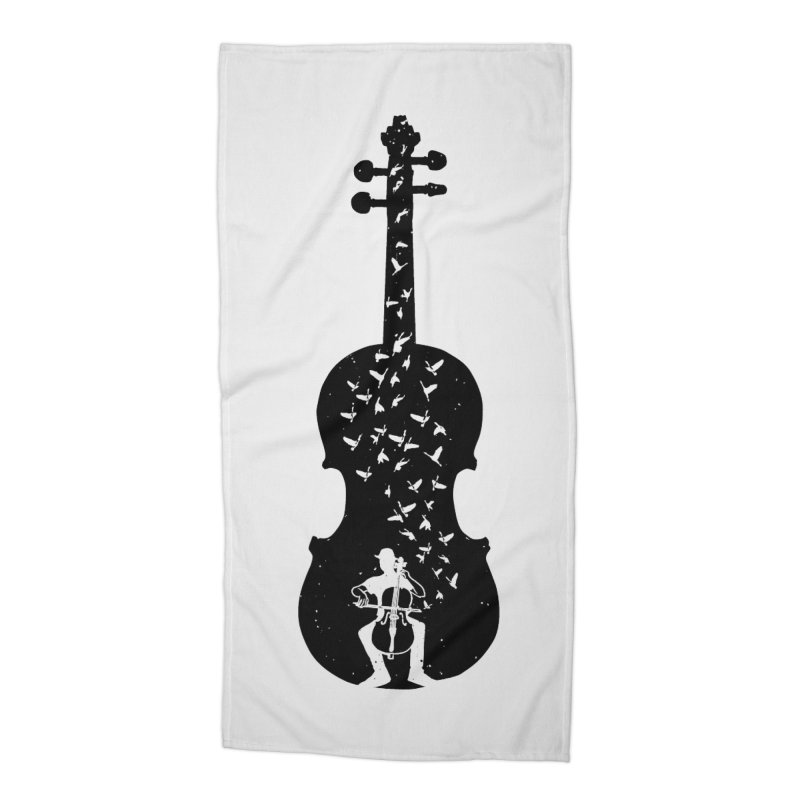 Cello - Playing Cello Accessories Beach Towel by barmalisiRTB