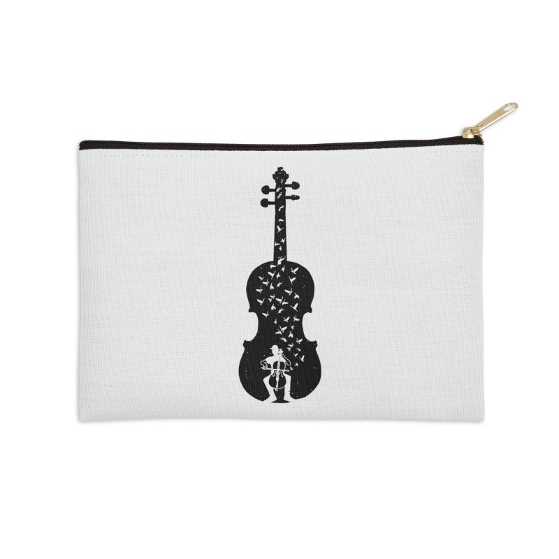 Cello - Playing Cello Accessories Zip Pouch by barmalisiRTB