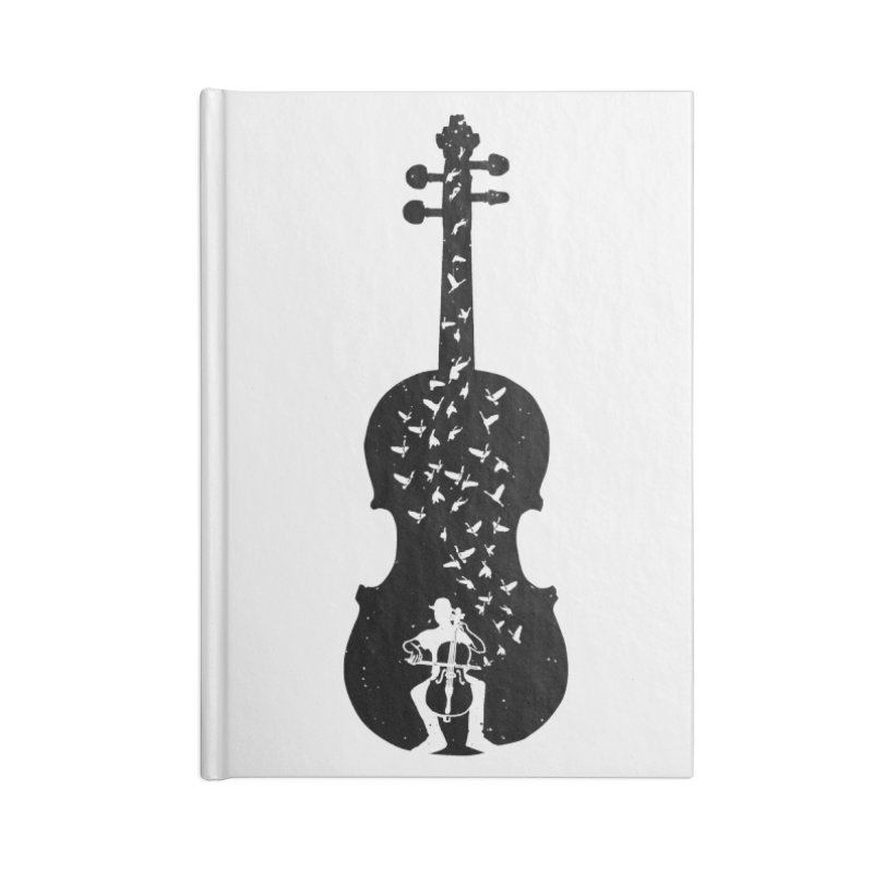Cello - Playing Cello Accessories Lined Journal Notebook by barmalisiRTB