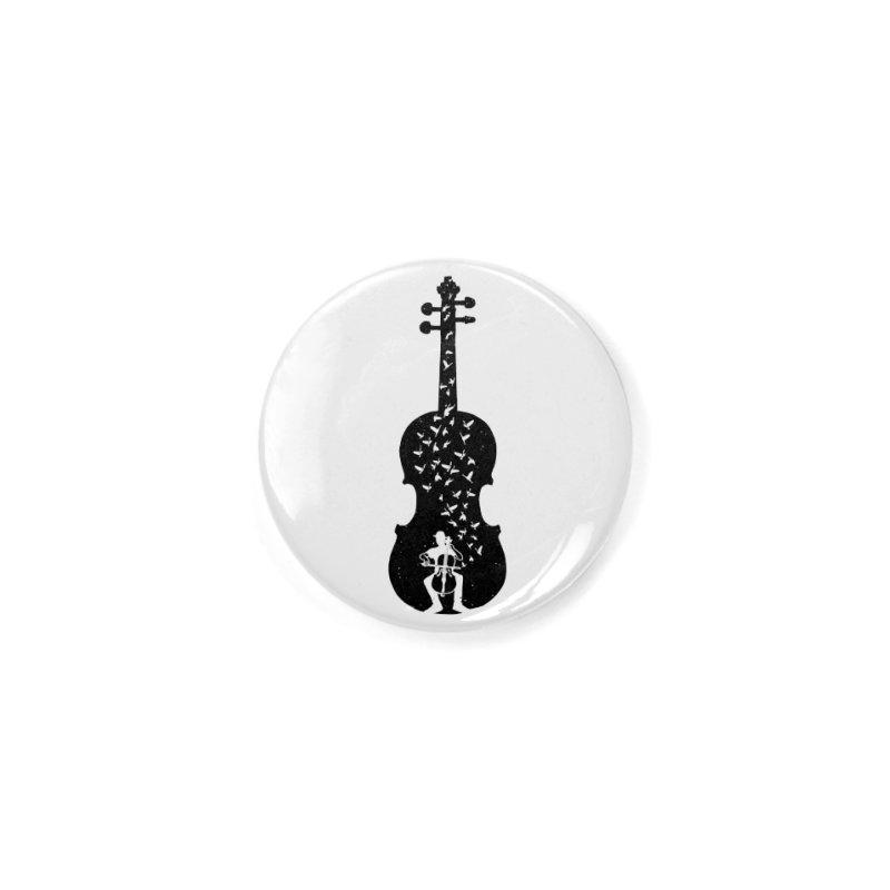 Cello - Playing Cello Accessories Button by barmalisiRTB