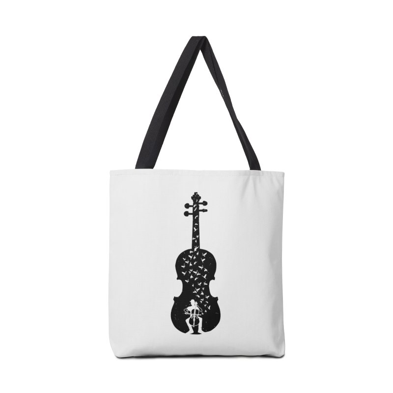 Cello - Playing Cello Accessories Tote Bag Bag by barmalisiRTB