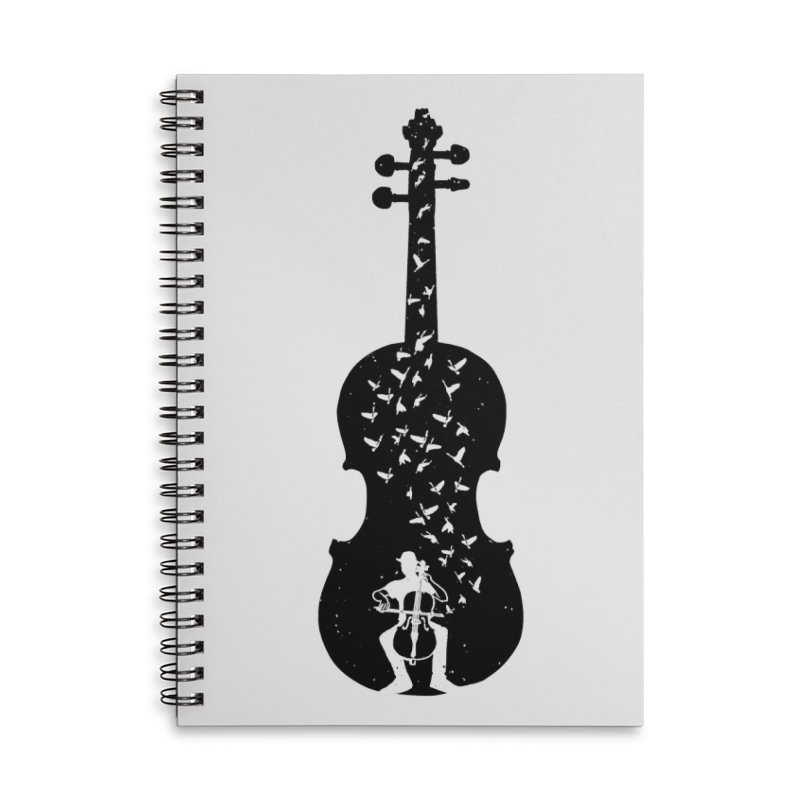 Cello - Playing Cello Accessories Lined Spiral Notebook by barmalisiRTB