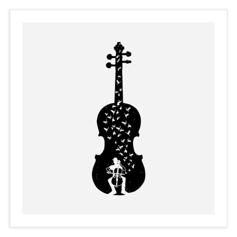 Cello - Playing Cello Home Fine Art Print by barmalisiRTB