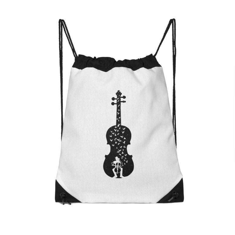 Cello - Playing Cello Accessories Bag by barmalisiRTB