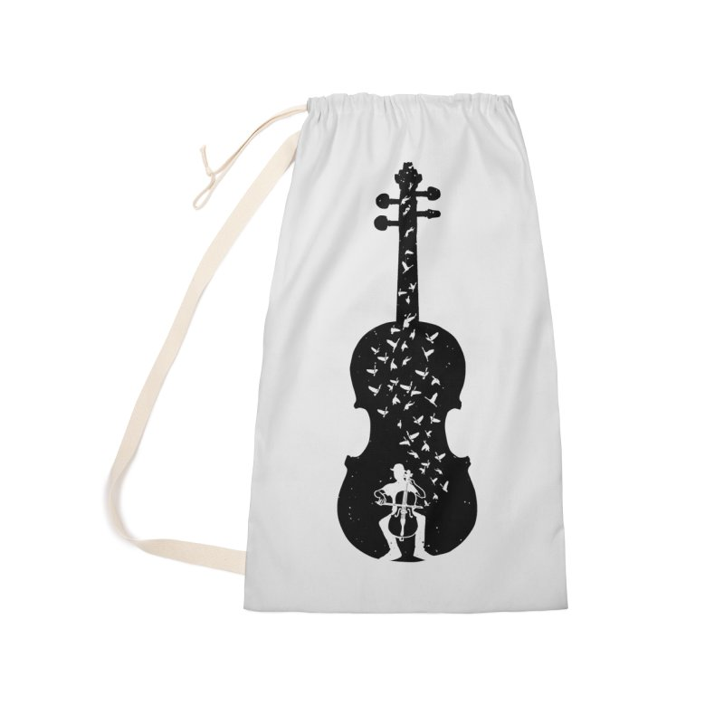 Cello - Playing Cello Accessories Laundry Bag Bag by barmalisiRTB