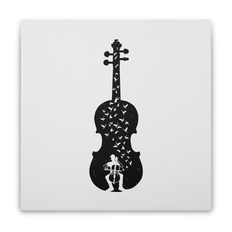 Cello - Playing Cello Home Stretched Canvas by barmalisiRTB