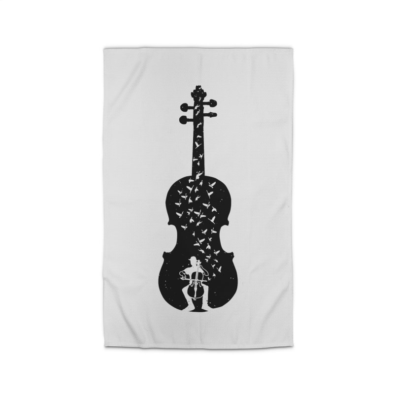 Cello - Playing Cello Home Rug by barmalisiRTB