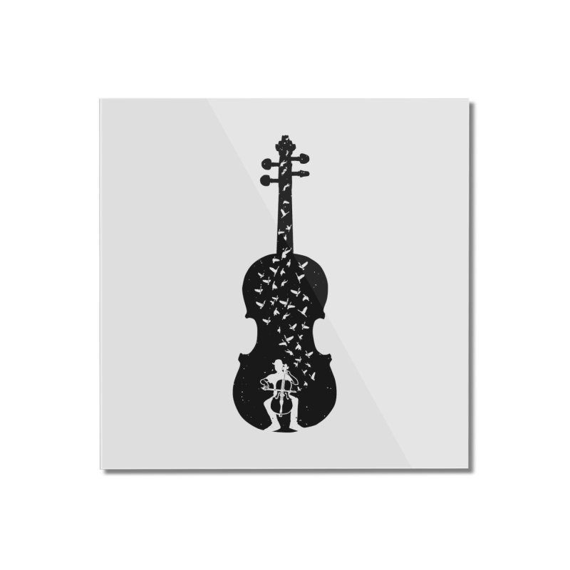 Cello - Playing Cello Home Mounted Acrylic Print by barmalisiRTB