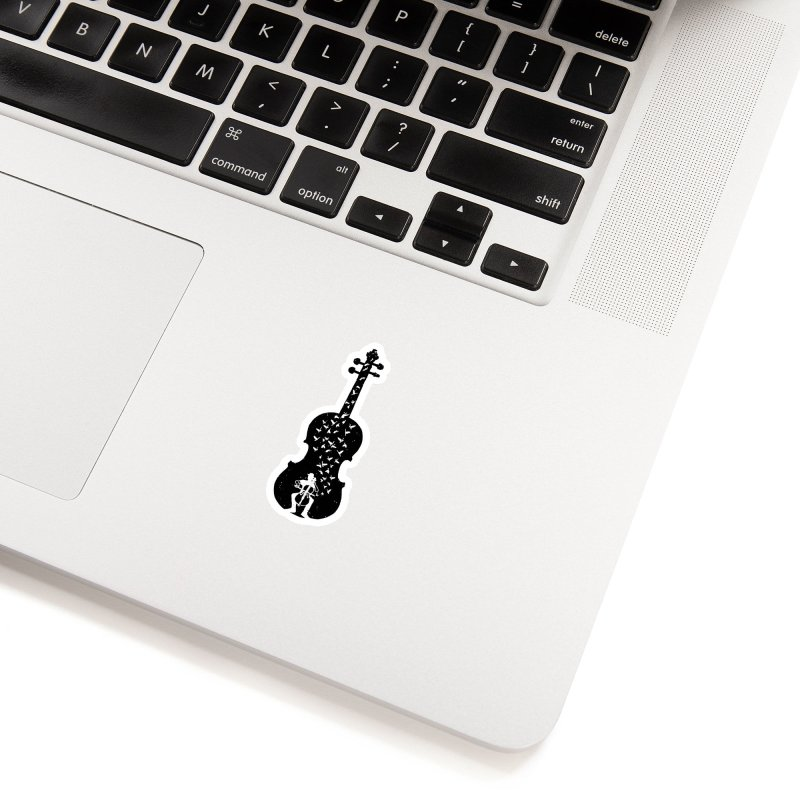 Cello - Playing Cello Accessories Sticker by barmalisiRTB