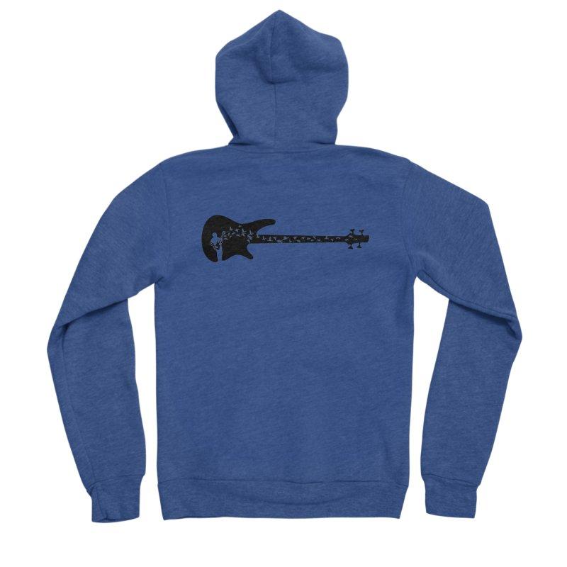 Bass guitar Men's Sponge Fleece Zip-Up Hoody by barmalisiRTB