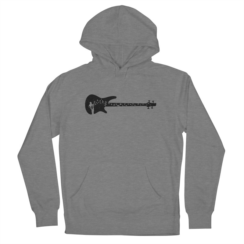Bass guitar Men's French Terry Pullover Hoody by barmalisiRTB
