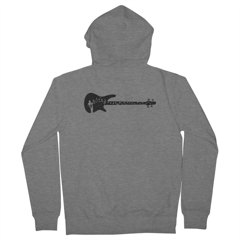 Bass guitar Men's French Terry Zip-Up Hoody by barmalisiRTB