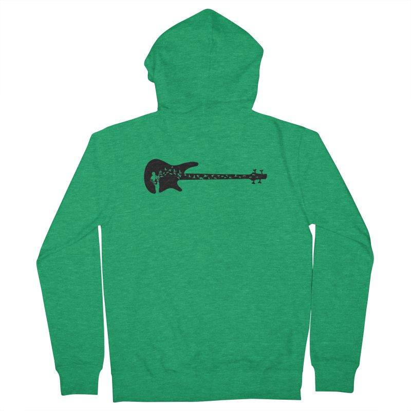 Bass guitar Men's Zip-Up Hoody by barmalisiRTB