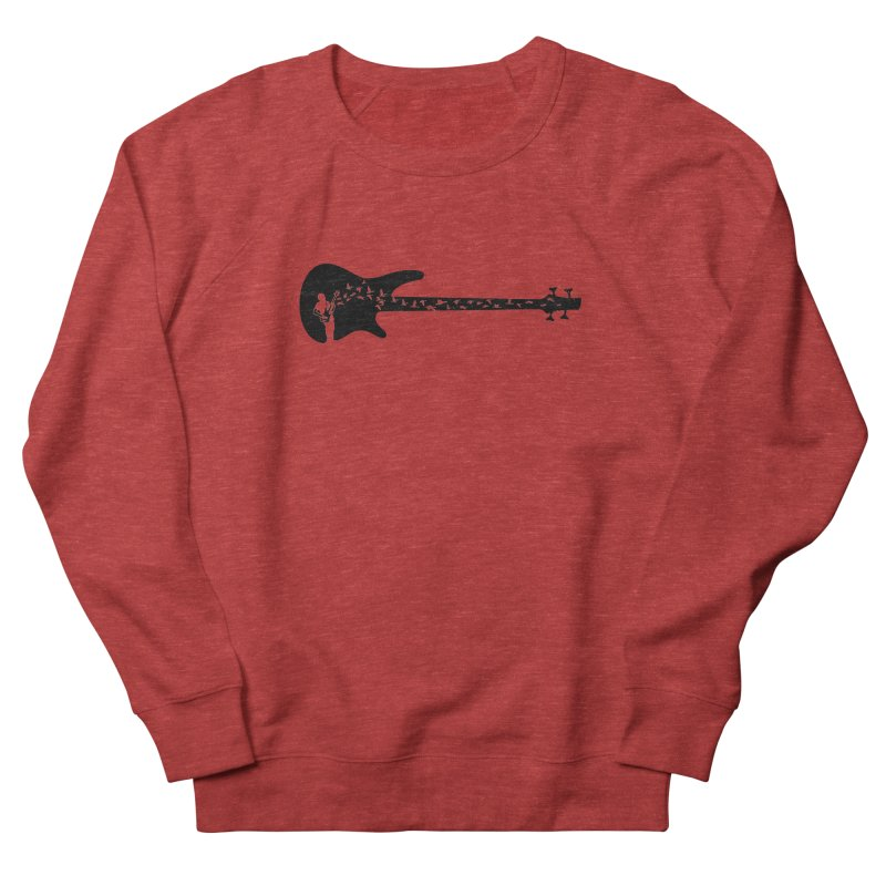 Bass guitar Women's French Terry Sweatshirt by barmalisiRTB